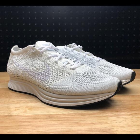fd79f0f39af4 Nike Flyknit Racer White Goddess Men s Size 7 New